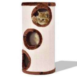 """3-Story 14"""" x 27.5"""" Cat Tower-Coffee"""