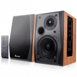 Active Powered Bookshelf Speakers with Remote Control