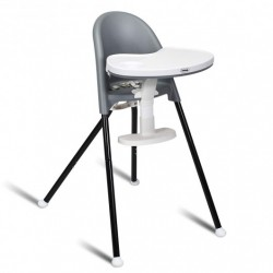 3 in 1 Convertible Highchair with Detachable Double Trays-Gray