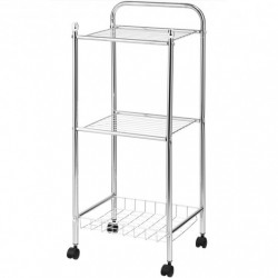 3 Tier Mesh Wire Organizers Rolling Utility Cart with Wheels for Bathroom