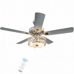 """52"""" Classical Crystal Ceiling Fan Lamp"""