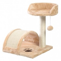 """18"""" Deluxe Cat Tree Level Condo Furniture Scratching Post Kittens Pet Play Beige-beige paws"""
