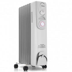 1500 W 7-Fin Timer Thermostat Electric Oil Filled Radiator Heater