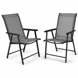 4-Pack Patio Folding Chairs Portable for Outdoor Camping