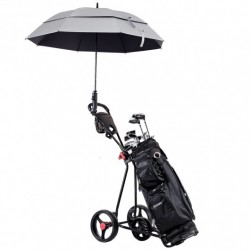 Durable Foldable Steel Golf Cart with Mesh Bag