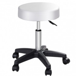 1 Pc Adjustable Hydraulic Rolling Swivel Salon Bar Stool with Casters Wheels-White