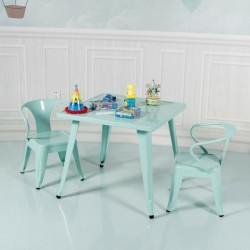 27'' Kids Square Steel Table Play Learn Activity Table-Blue