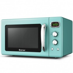 0.9 Cu.ft Retro Countertop Compact Microwave Oven-Green