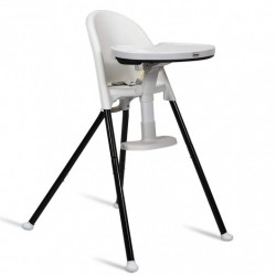 3 in 1 Convertible Highchair with Detachable Double Trays-White