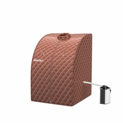 Portable Personal Steam Sauna Spa with 3L Blast-proof Steamer Chair-Coffee