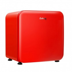 1.6 Cubic Feet Compact Refrigerator with Reversible Door-Red