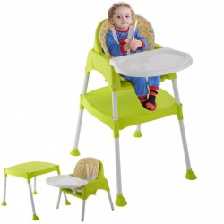 3 in 1 Convertible Baby High Chair Feeding Seat