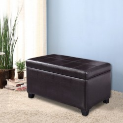 2-in-1 Upholstered Storage Bench Ottoman