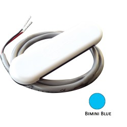 Shadow-Caster Courtesy Light w/2' Lead Wire - White ABS Cover - Bimini Blue - 4-Pack